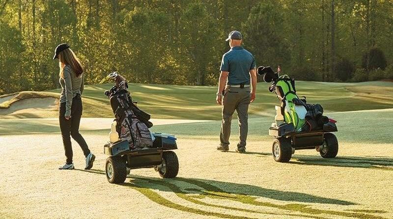 Temp walk robotic caddie
