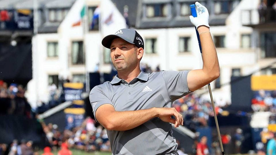 Sergio Garcia had a slow start to his British Open.