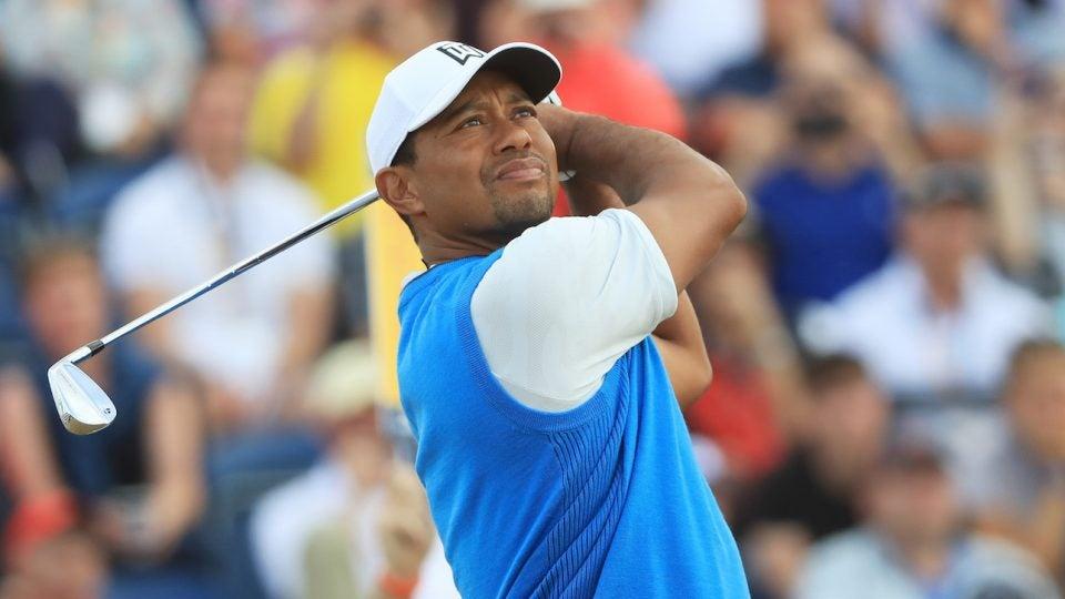 Tiger Woods British Open Round 1