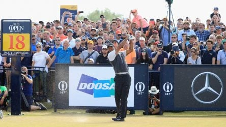 Tiger Woods final round tee times at British Open