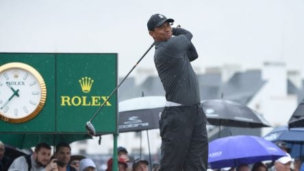 Tiger Woods tee times British Open