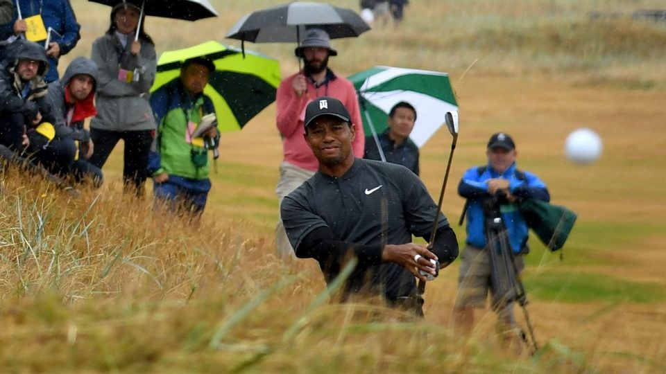 Tiger Woods second round British Open