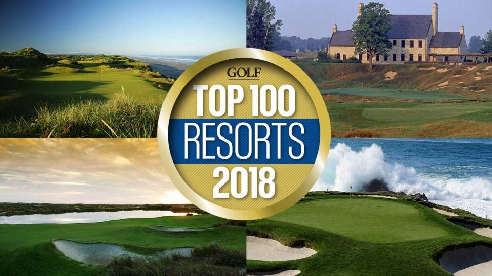 Top 100 golf resorts