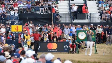 Tiger Woods made some weekend moves at the British Open.