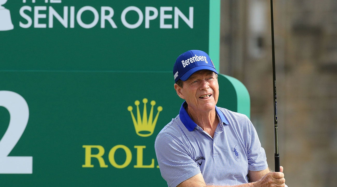 Ames shares lead at Senior British Open with Jimenez