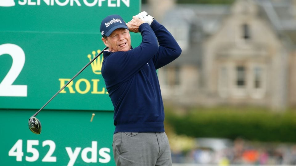 Tom Watson in contention at St. Andrews.