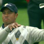 Tiger Woods club twirl