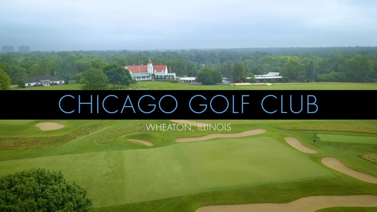 tour chicago golf club from the sky