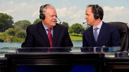 Johnny Miller has been in the NBC broadcast booth since 1990.