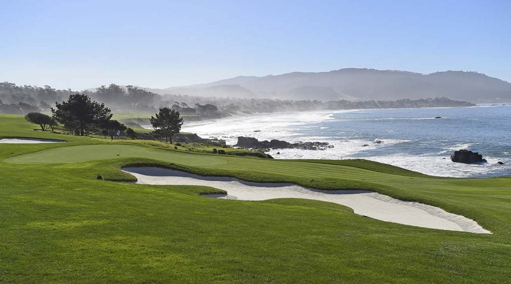 The par-4 8th hole at Pebble Beach Golf Links