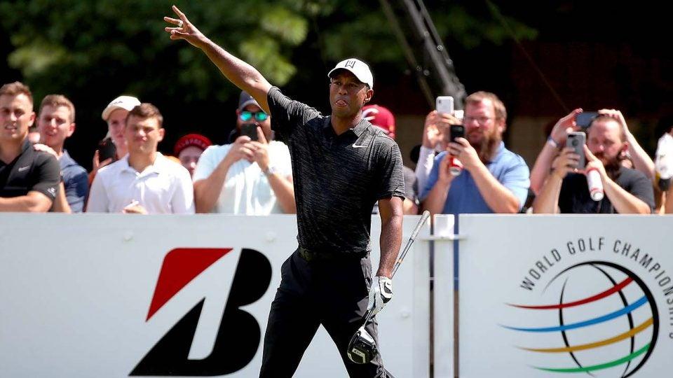 Tiger Woods, Round 2, 2018 Bridgestone Invitational