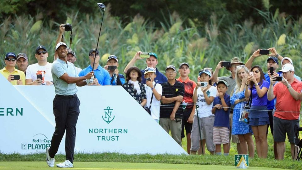 Tiger Woods Saturday at the Northern Trust.