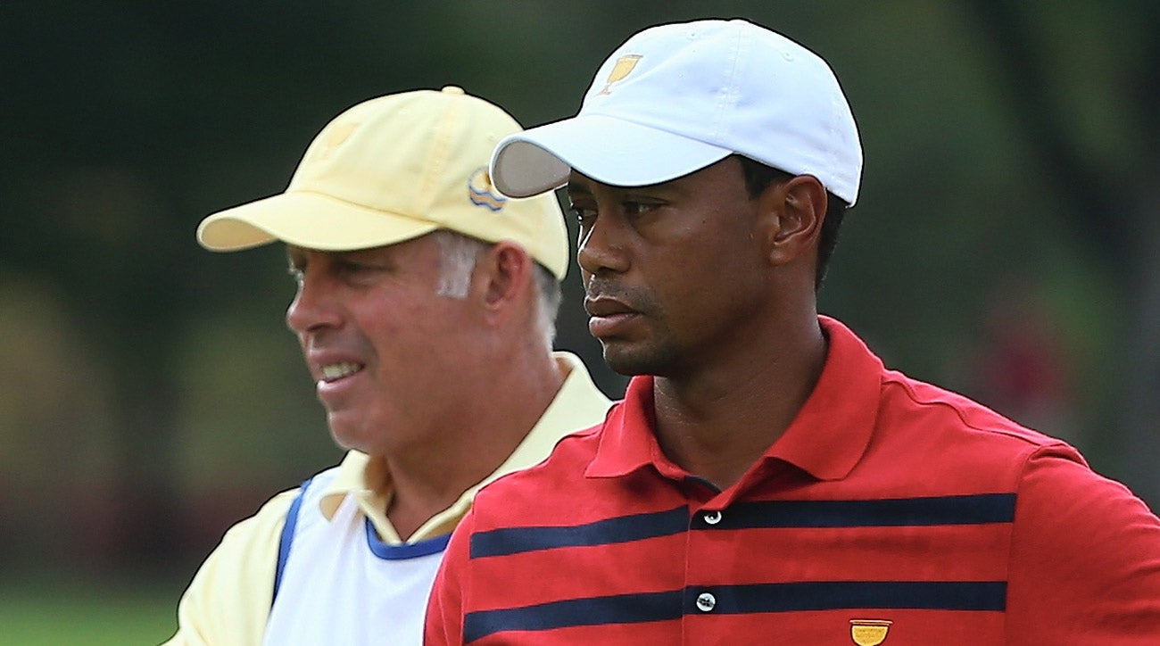 Tiger Woods and his former caddie Steve Williams were on opposing sides at the 2013 Presidents Cup.