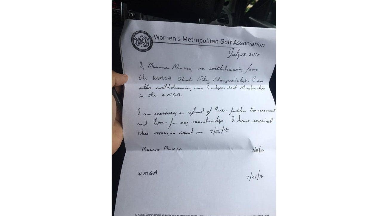 WMGA letter, Marianna Monaco