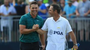 Brooks Koepka didn't let up on Sunday, shooting 66 and winning the PGA Championship by two over Tiger Woods.