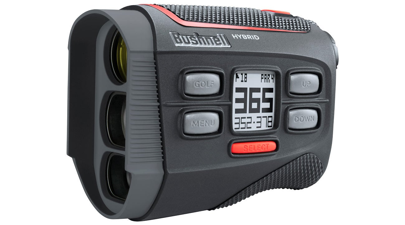 The Bushnell Hybrid rangefinder goes flag-hunting.