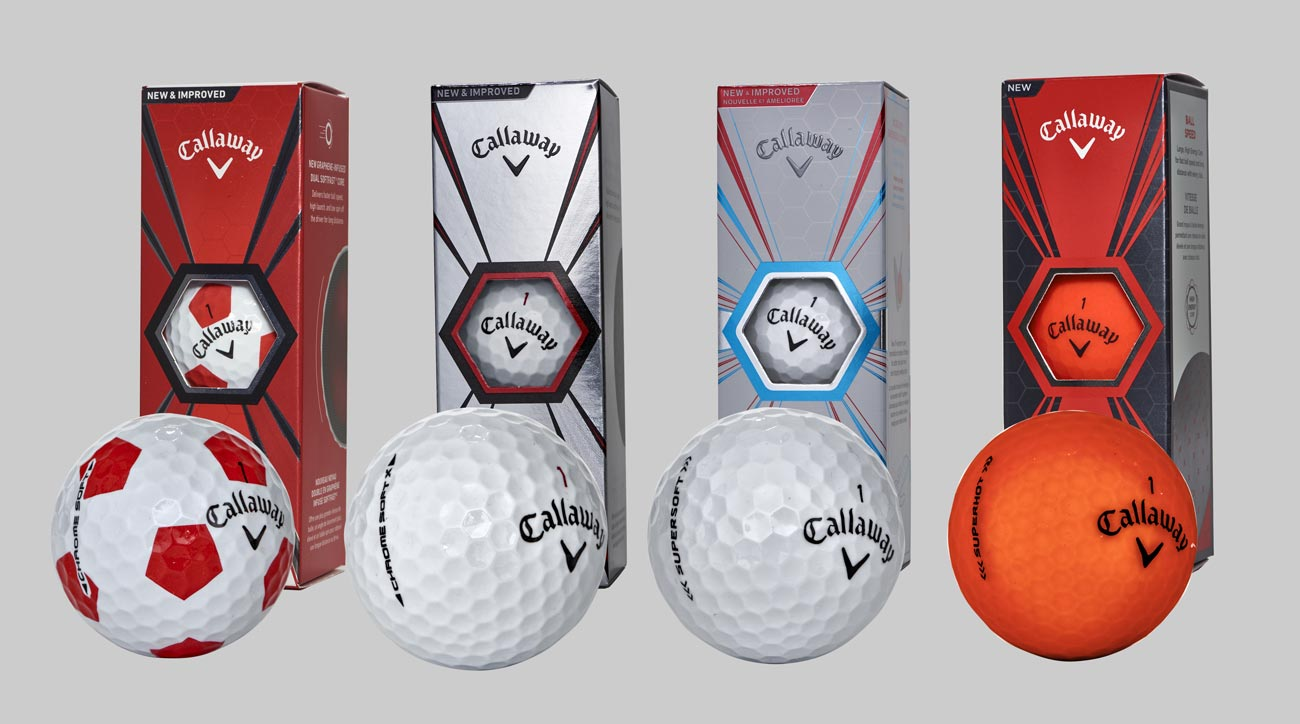 All of Callaway's new golf balls for 2018.