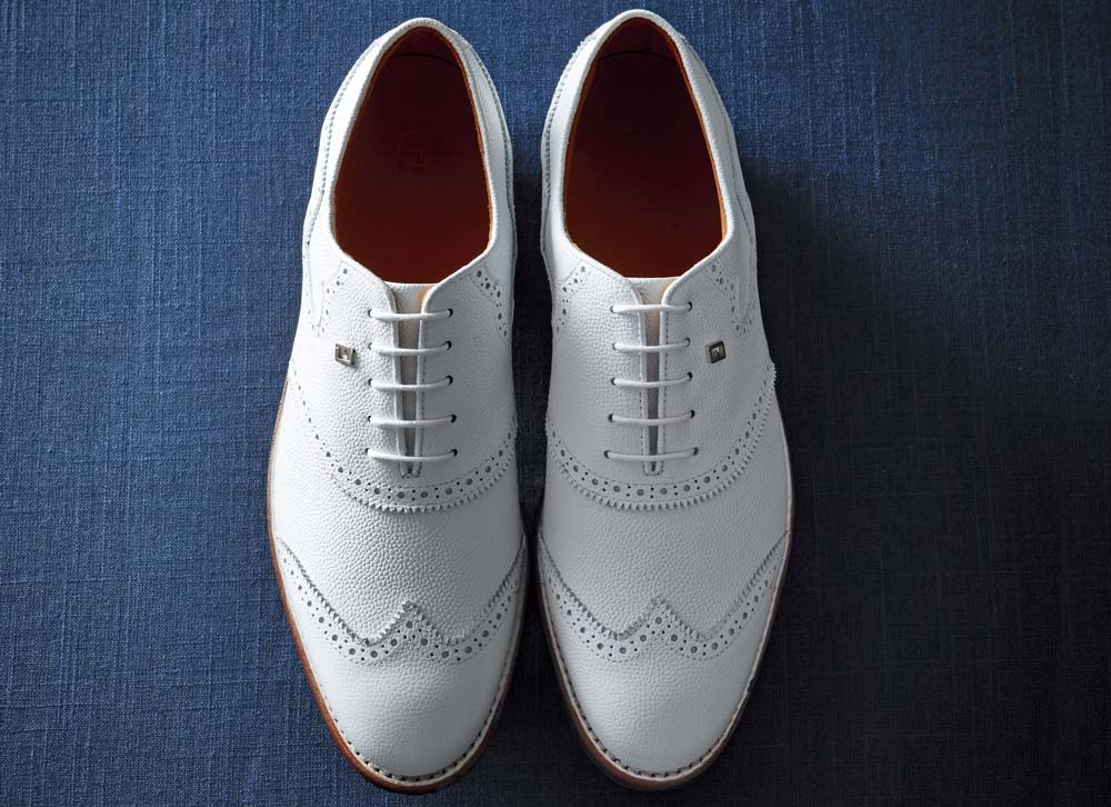 The FootJoy 1857 golf shoes feature beloved, traditional styling.