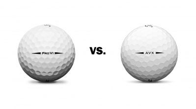 Titleist AVX golf ball, TItleist Pro V1 golf ball
