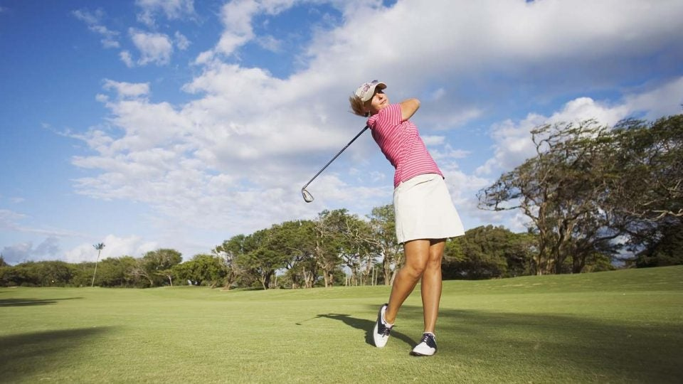 Girls golf participation has risen dramatically in the last five years.