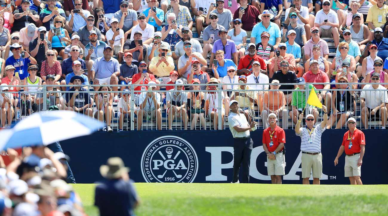 Tiger charges into the hunt as Koepka grabs lead at 100th PGA