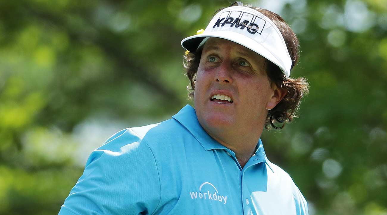 Phil Mickelson missed the cut at the PGA Championship for the second straight season.