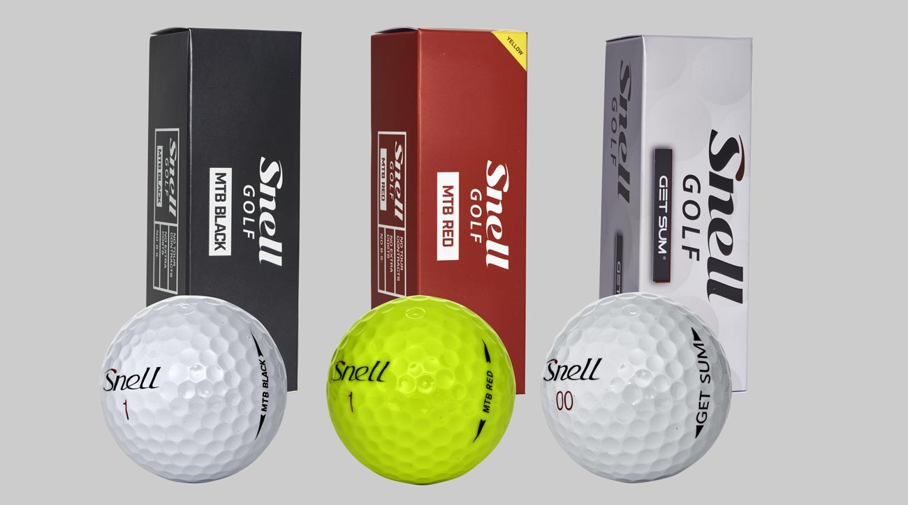 These are Snell Golf's new golf balls for 2018.