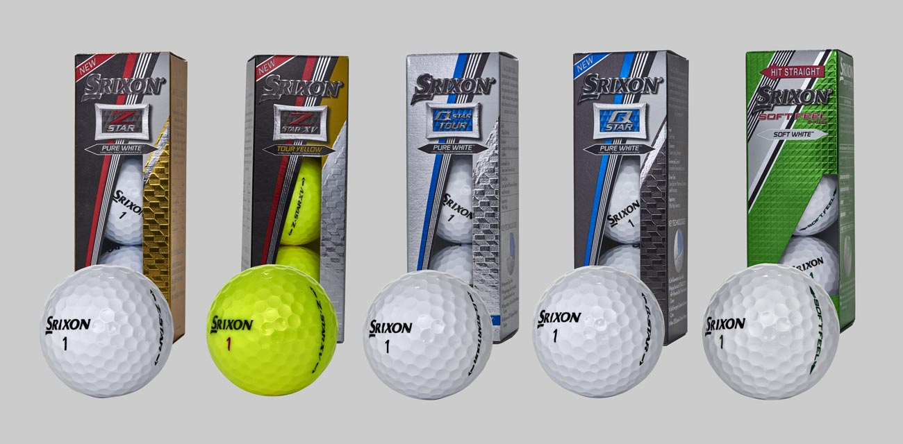 These are Srixon's new golf balls for 2018.
