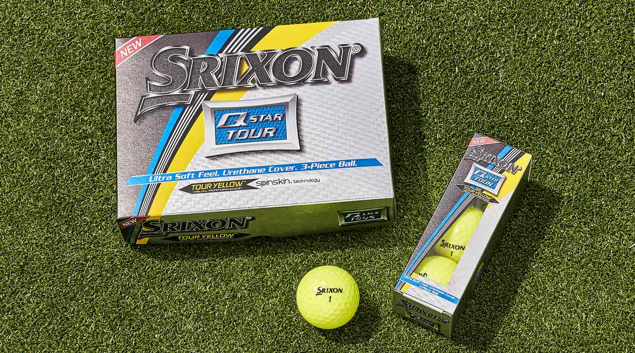 The yellow version of the new Srixon Q-Star Tour golf balls.