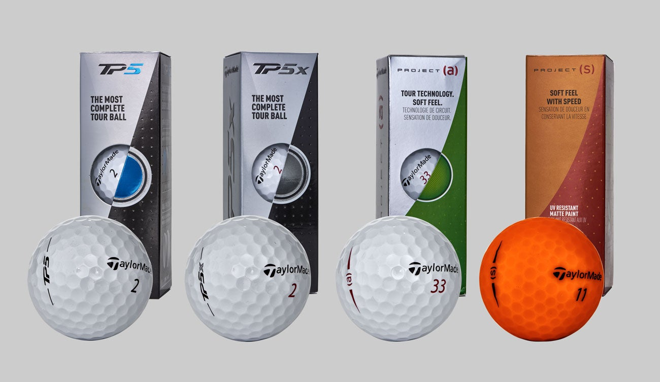 These are TaylorMade's new golf balls for 2018.