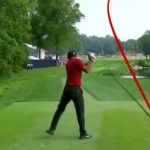 Tiger Woods drive on 17, PGA Championship