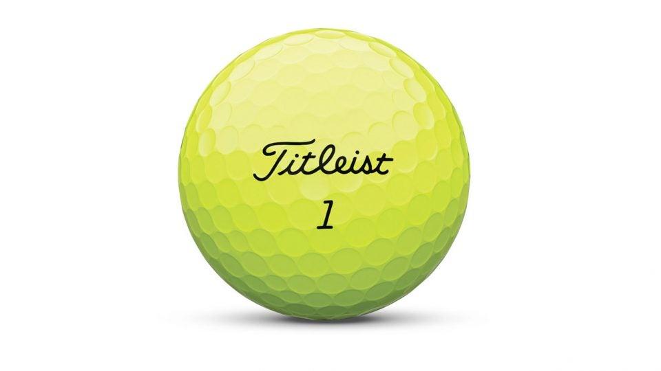 Yellow Titleist Pro V1 golf balls