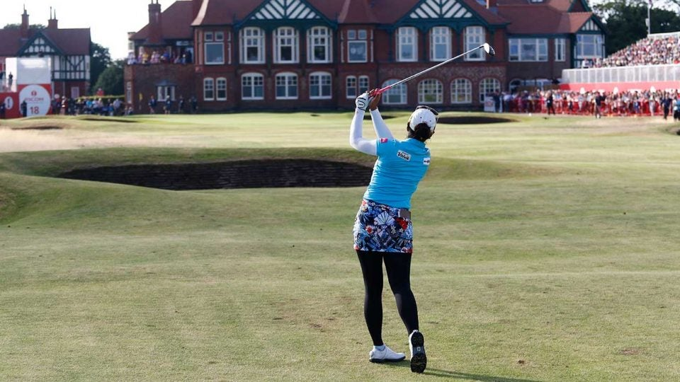 The 2018 Women's British Open is being played at Royal Lytham and St. Annes Golf Club in Lytham St. Annes, England.