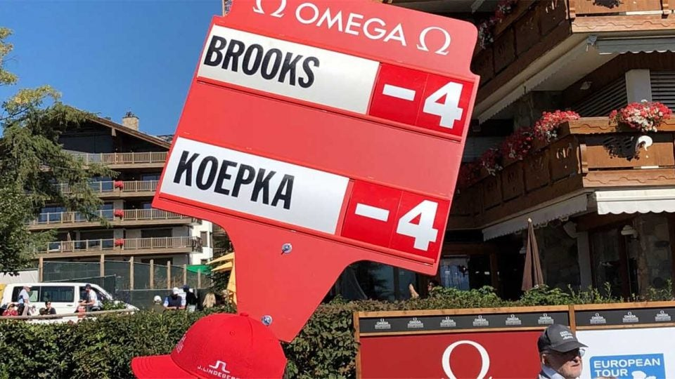Brooks Koepka scoreboard