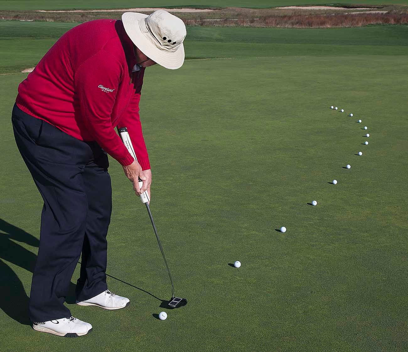 Dave Pelz, putting drill