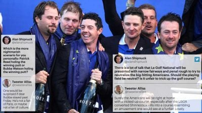 Twitter war raging! Europe's biggest Ryder Cup booster clashes with our overconfident U.S. scribe