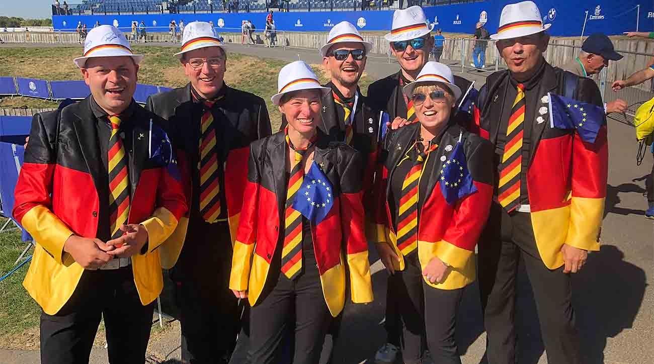 German fans at 2018 Ryder Cup