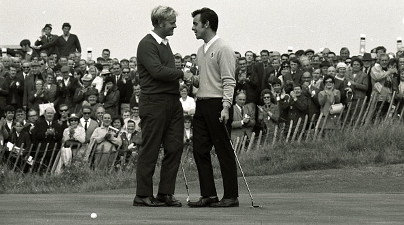 Jack Nicklaus, Tony Jacklin, the concession, 1969 Ryder Cup