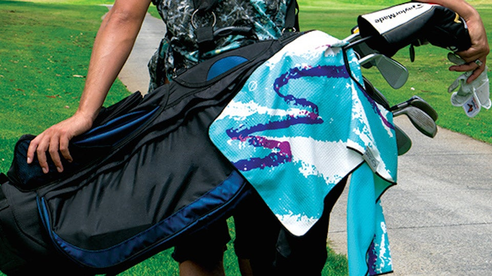 A colorful Leus towel can add pizazz to any bag.