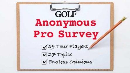 PGA Tour anonymous pro survey
