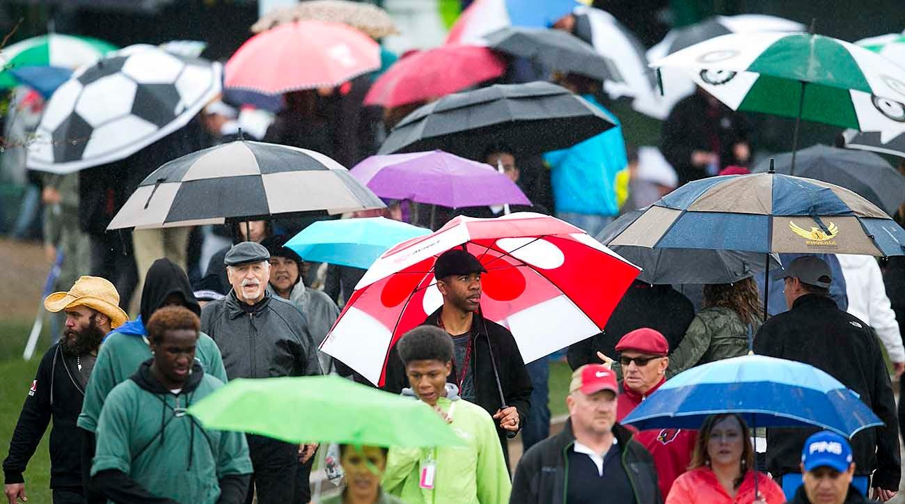 Bmw Championship Delayed By Heavy Rain Monday Finish On