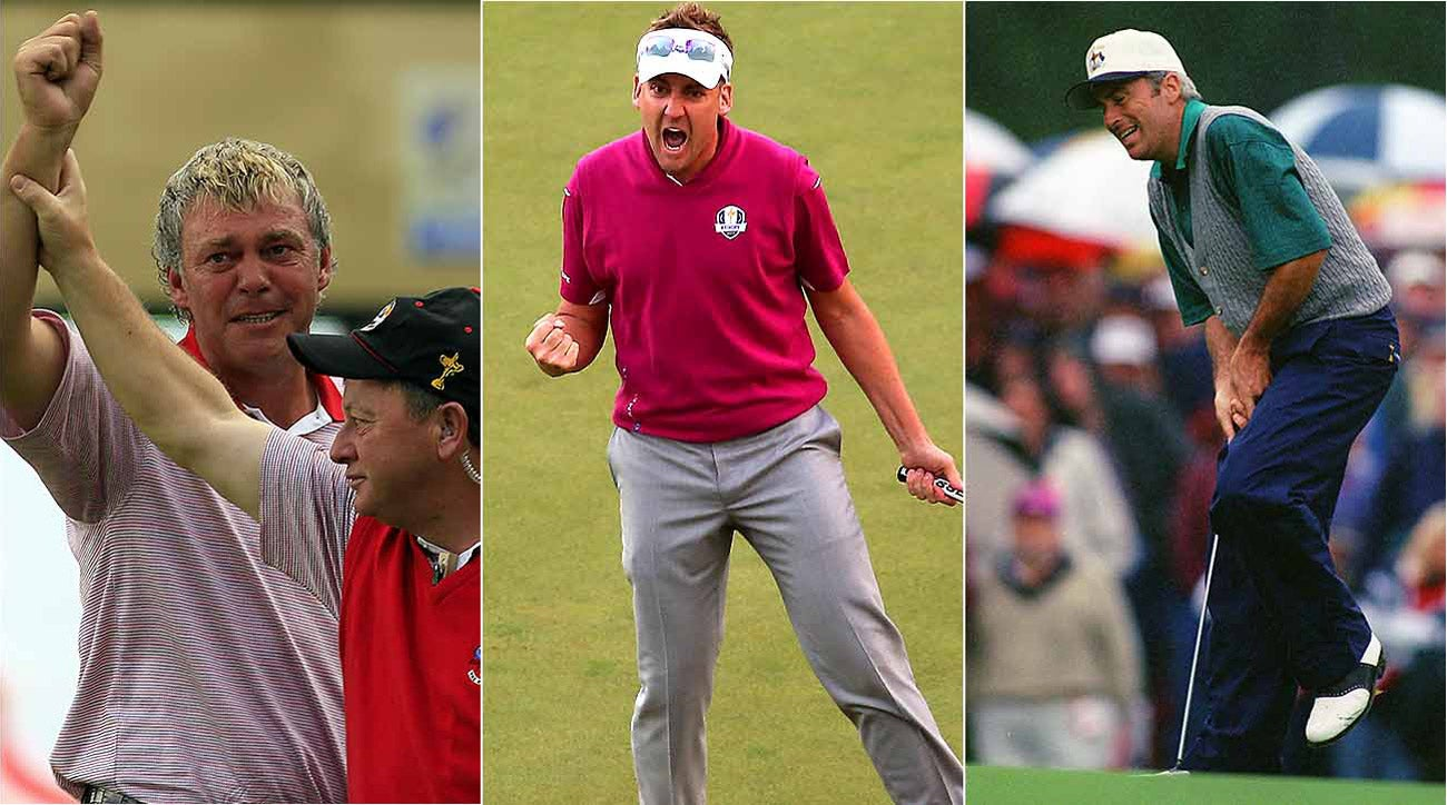 Darren Clarke (left), Ian Poulter (middle) and Curtis Strange (right) have had varying degrees of success as Ryder Cup captain's picks.