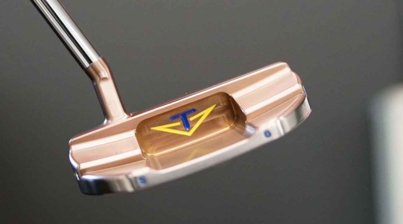 The back of Sergio Garcia's custom Ryder Cup putter