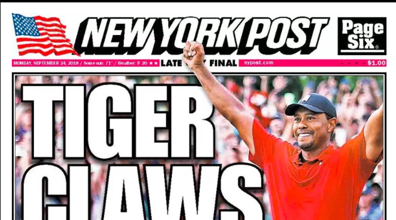 PHOTOS: Tiger Woods's win makes newspaper front pages across the country