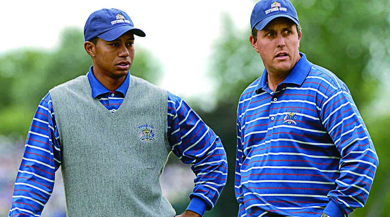 Tiger Woods, Phil Mickelson, 2004 Ryder Cup