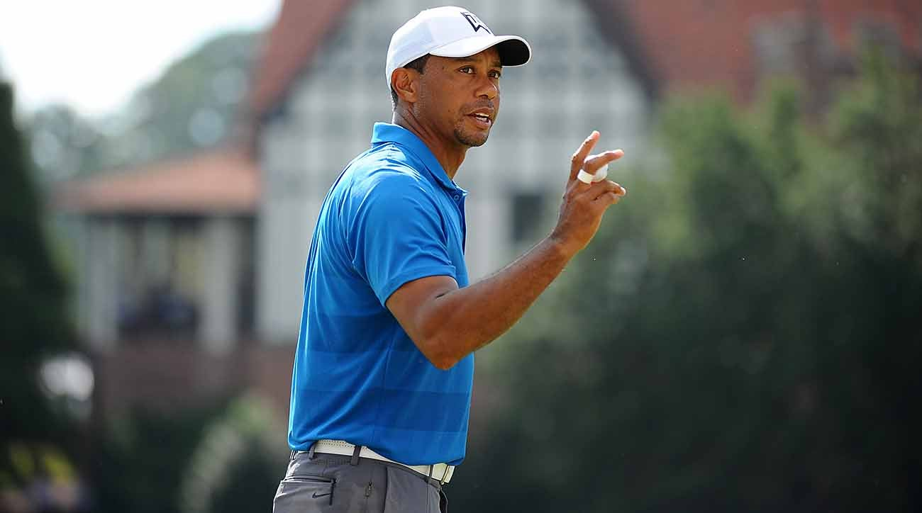 Fueled by six-birdie barrage in opening seven holes, Woods seizes three-shot lead at Tour Championship
