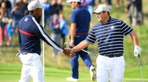 Tiger Woods, Patrick Reed, Friday fourballs, 2018 Ryder Cup