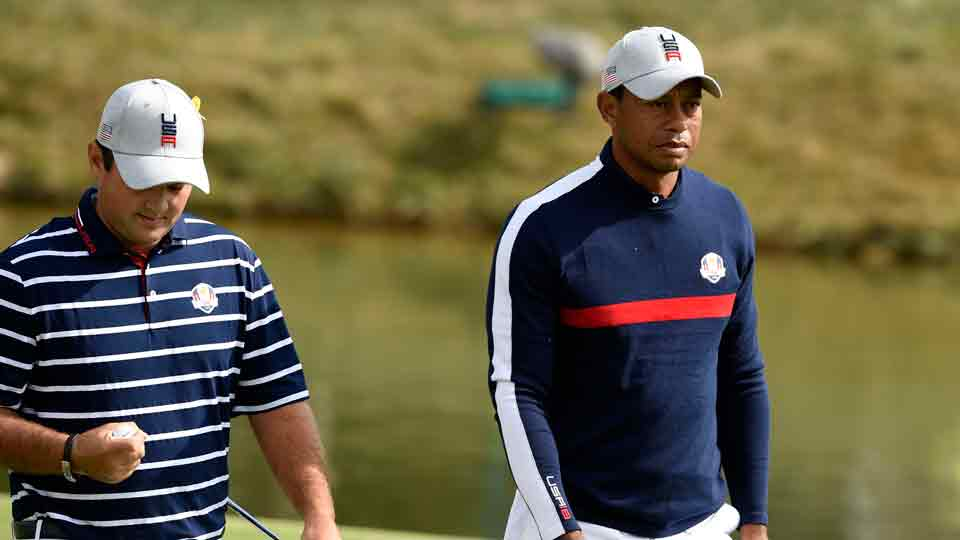 Tiger Woods Patrick Reed Ryder Cup