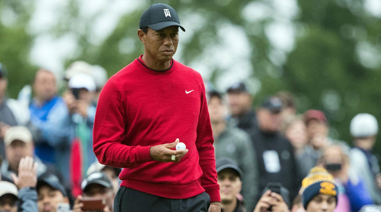 Tiger s red sweater at BMW evokes iconic outfit from his 1997 ... cde136929ba