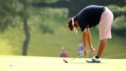 Unhappy golfer